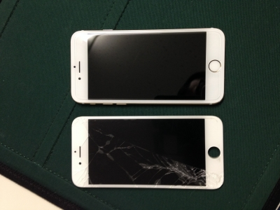 iPhone 6のガラス割れ-iPhone 6修理前の写真