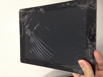 ipad2 ガラス割れー交換修理前