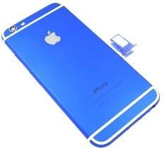 iphone 6  カスタム、メタルブルー