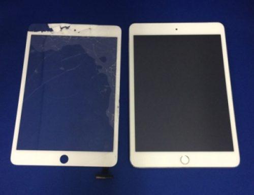 落下したiPad mini3のガラス交換