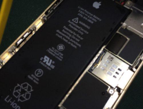 水没したiPhone6の復旧修理
