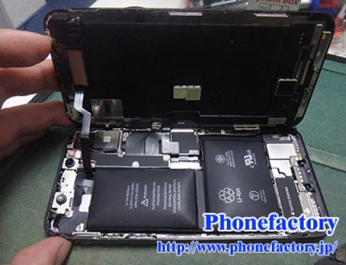 iPhone10 バッテリー交換修理 - ガラスがちょっと浮いてきている