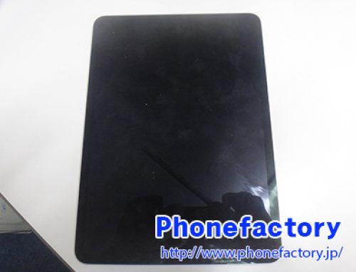 iPad Pro 11inch ガラス交換修理 - 鞄の中で物がぶつかったことによりガラスと液晶が破損