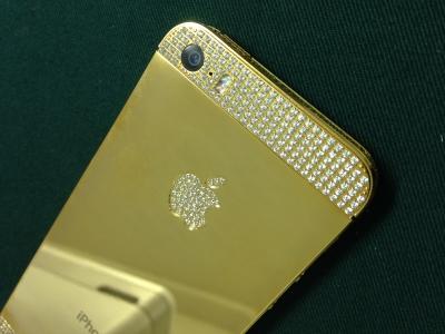 iphone5s_ゴールドゴージャスカスタム