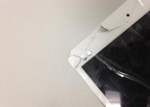 ipad mini ガラス割れ_修理前