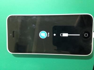 iphone5C修理ー復元モードー修理前