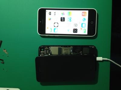 iPhone 5修理-水没-基盤修理後itunes復元