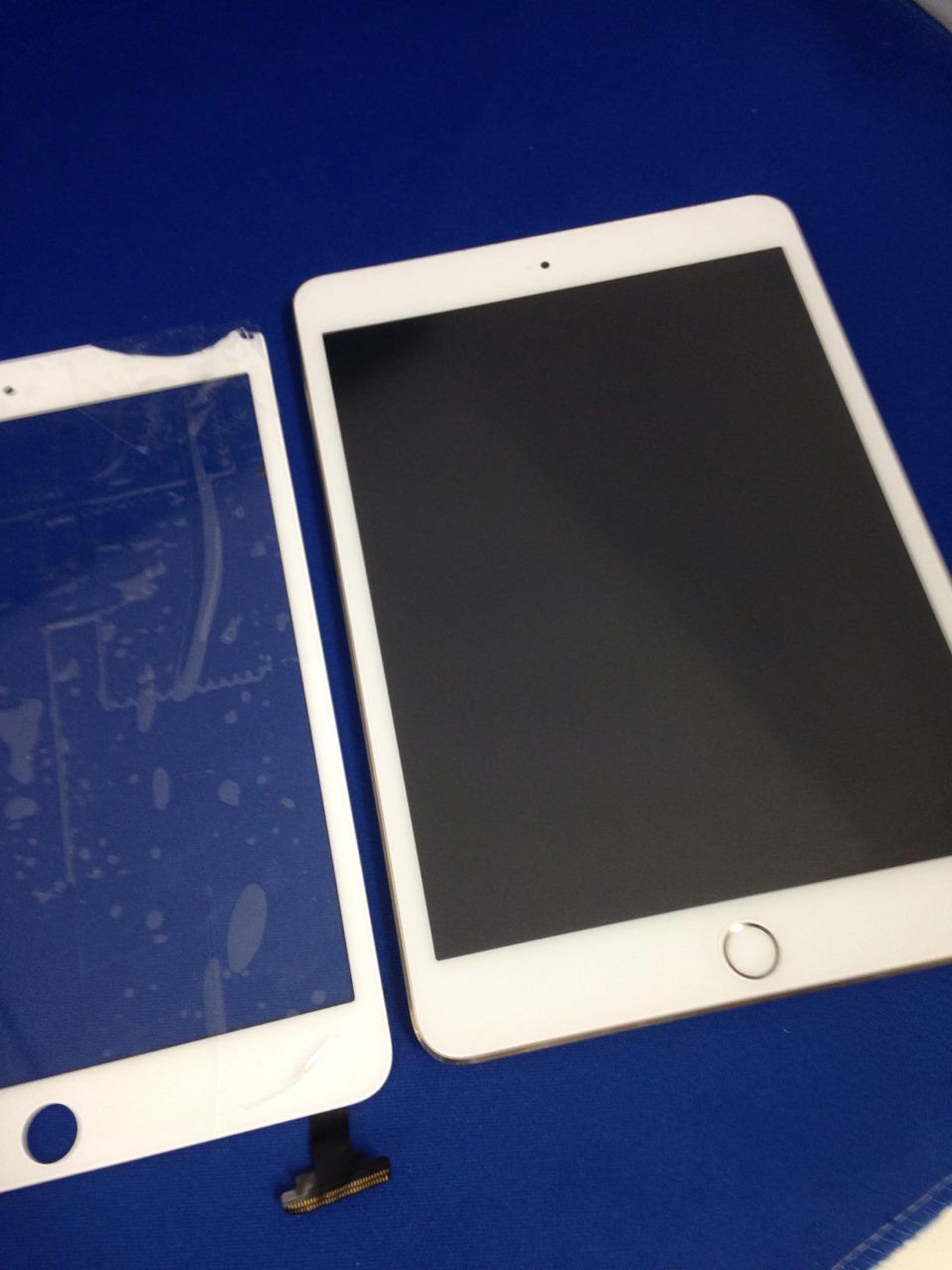 iPad mini3を落としてしまいガラスが割れてしまった。ガラス修理交換
