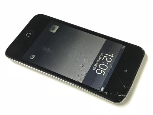 iPod touch 4世代 – 落下によるガラス破損