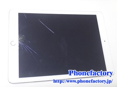 iPad Air2 フロントパネル交換修理 – iPadの上から物を落としてしまってガラスが割れてしまった。