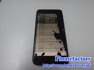 iPhone8 フロントパネル修理 – 落としてしまいフロントガラスと液晶が割れてしまった。