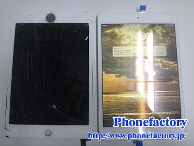 iPad Mini 4th フロントパネル交換修理 - 落としてガラスを割ってしまった