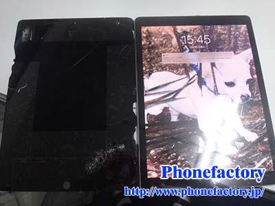 iPad 12.9inch(2世代) – 画面のガラスが割れてしまった