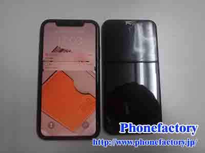iPhone11 – ガラスが割れて中身が見えてます